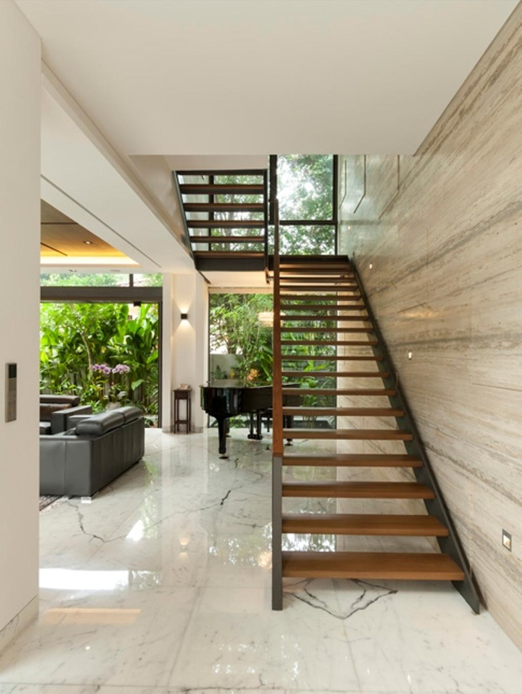 Contemporary, Landed, Kingsmead Road, Architect, Timur Designs, Banister, Handrail, Staircase, Grand Piano, Leisure Activities, Music, Musical Instrument, Piano