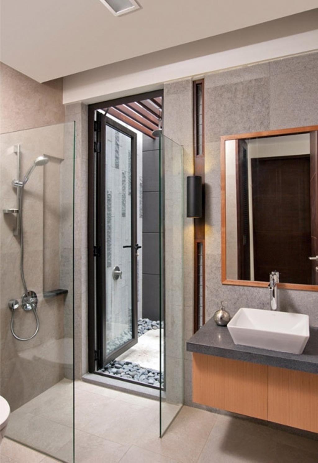 Contemporary, Condo, Bathroom, Lorong Pisang Emas, Architect, Timur Designs, Sink, Indoors, Interior Design, Room