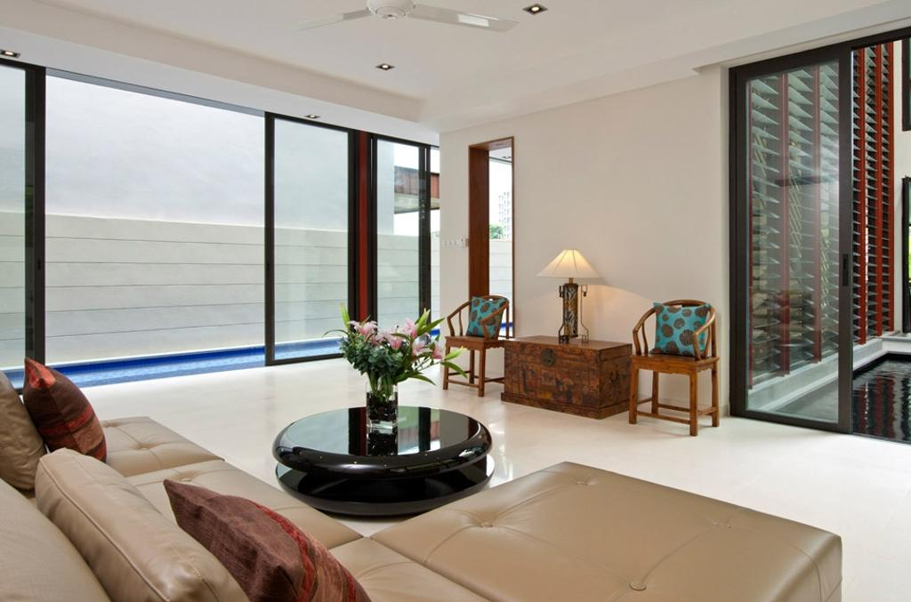 Contemporary, Condo, Living Room, Lorong Pisang Emas, Architect, Timur Designs, Couch, Furniture, Indoors, Interior Design, Dining Room, Room