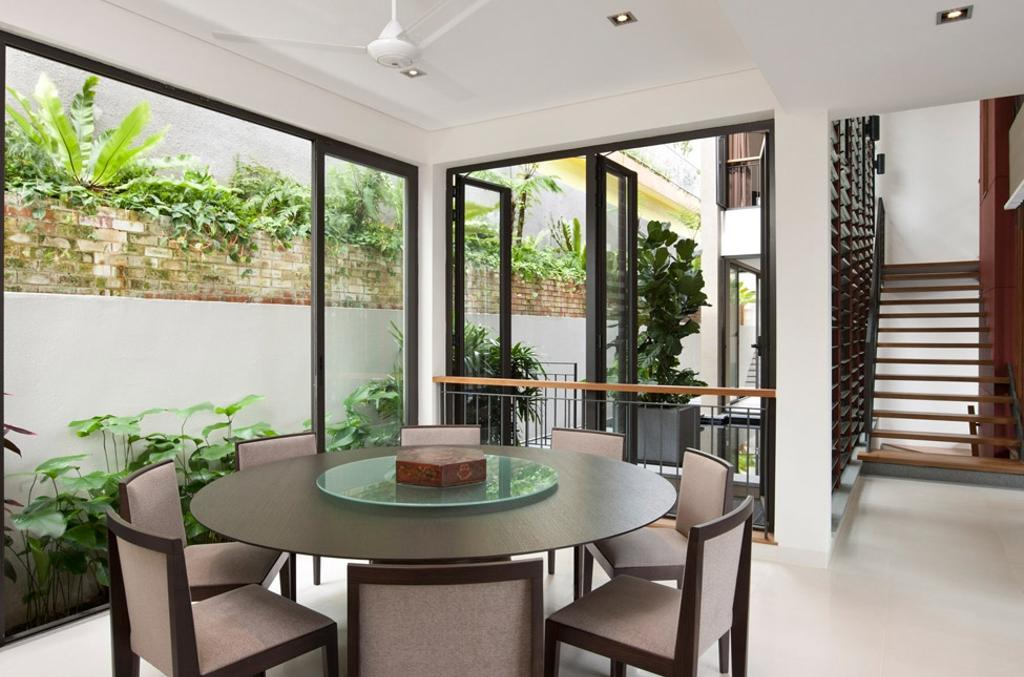 Contemporary, Condo, Dining Room, Lorong Pisang Emas, Architect, Timur Designs, Flora, Jar, Plant, Potted Plant, Pottery, Vase, Dining Table, Furniture, Table, Indoors, Interior Design, Room