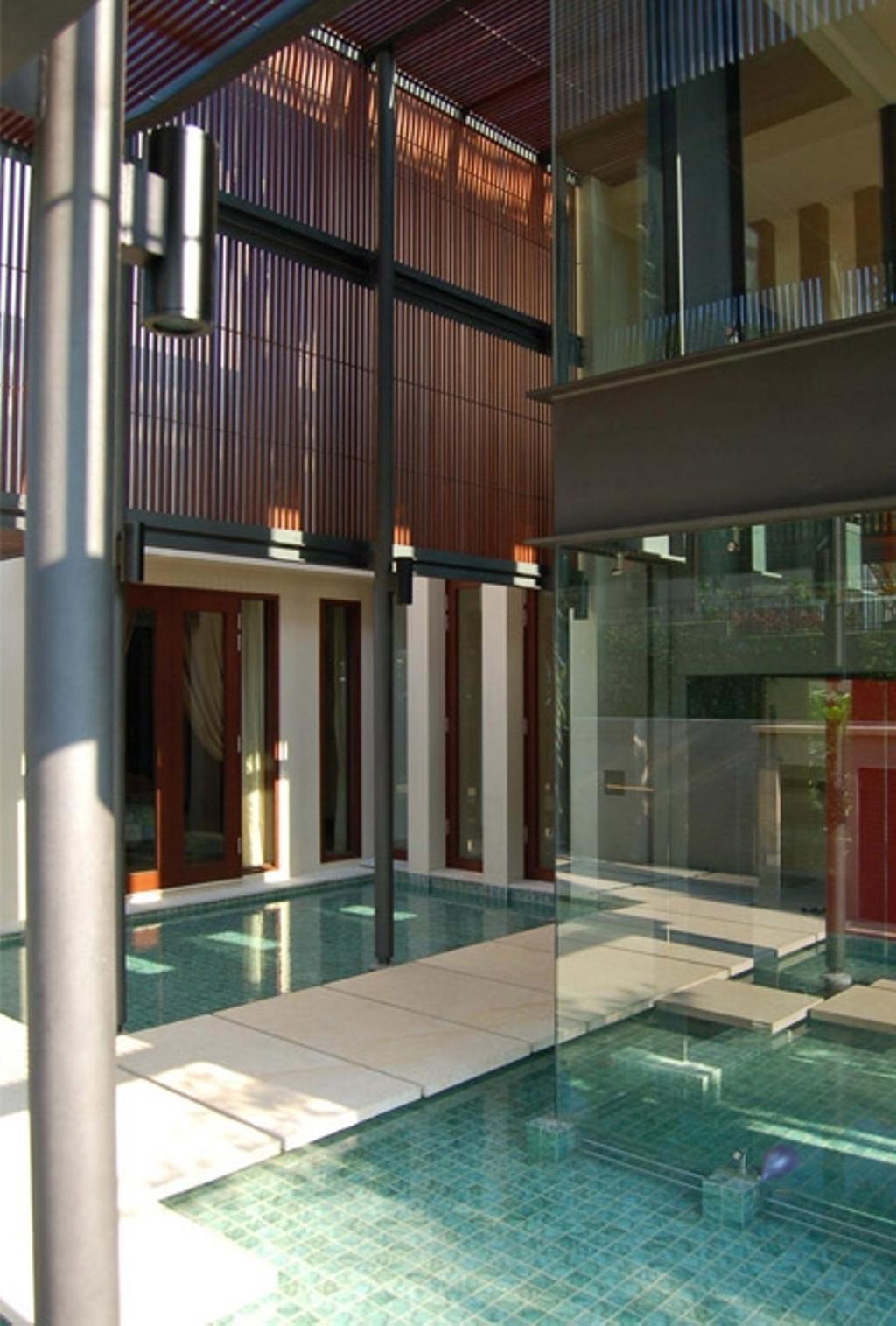 Contemporary, Landed, Mount Echo Park, Architect, Timur Designs, Door, Folding Door, Building, House, Housing, Villa, Banister, Handrail