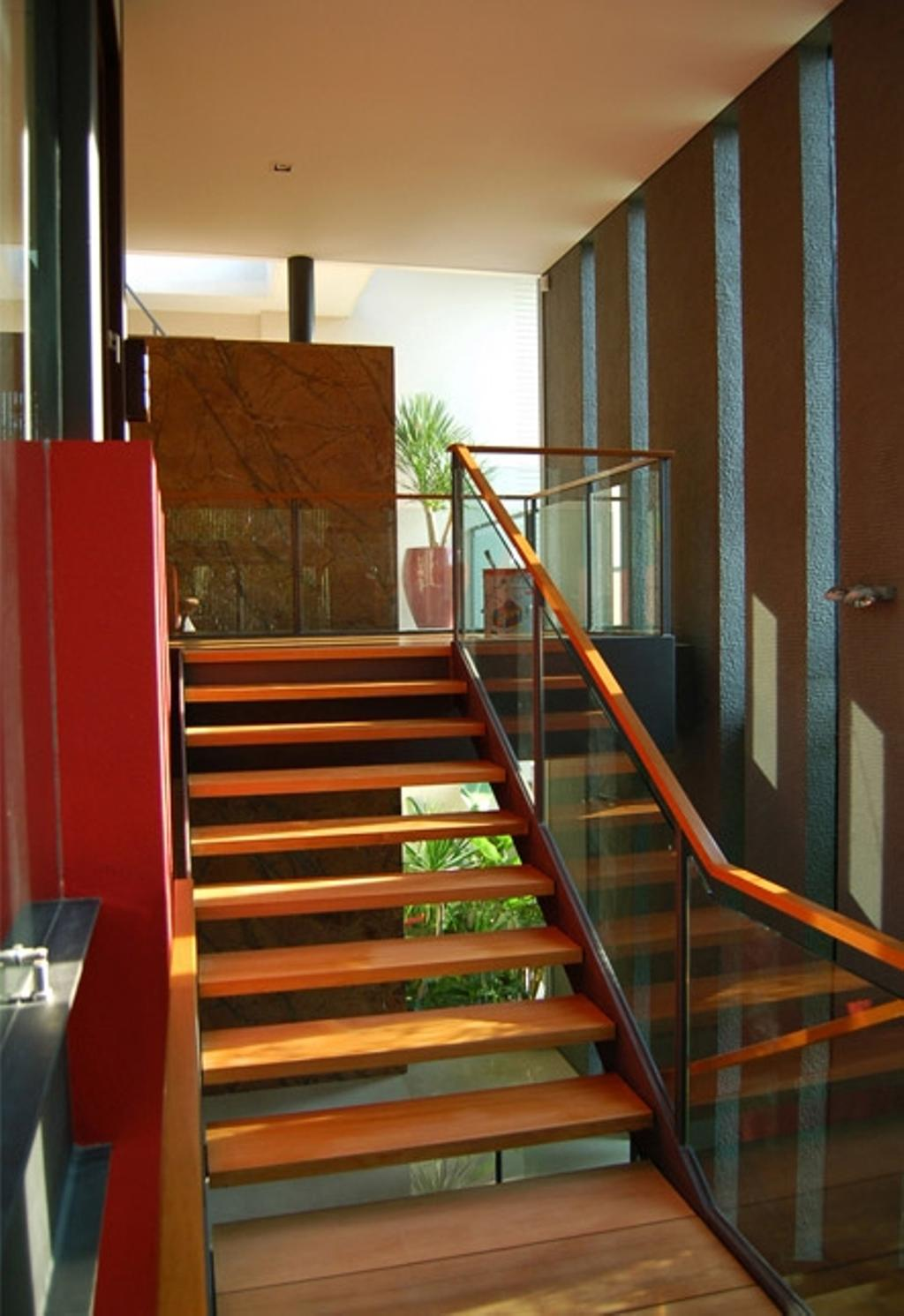 Contemporary, Landed, Mount Echo Park, Architect, Timur Designs, Flora, Jar, Plant, Potted Plant, Pottery, Vase, Banister, Handrail, Staircase