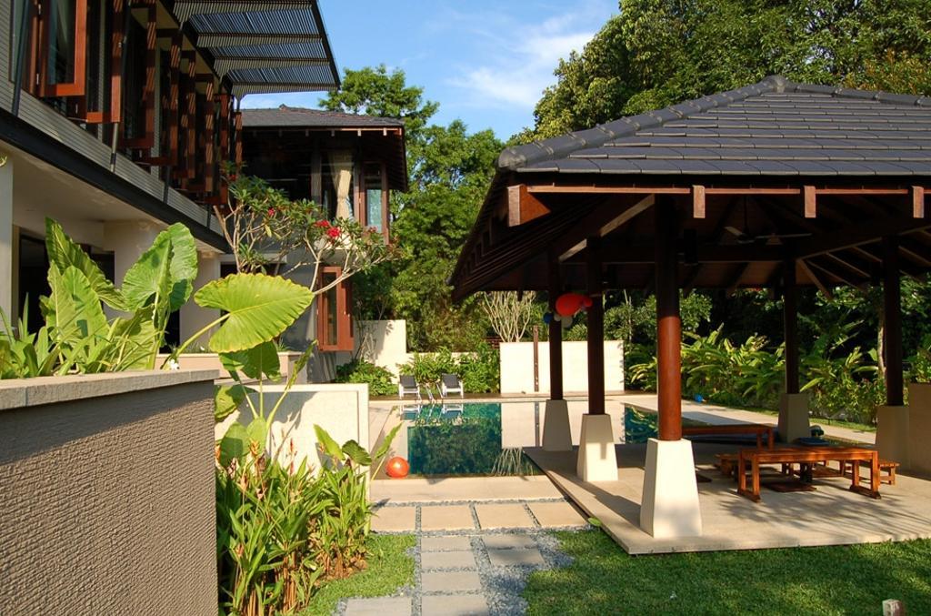 Contemporary, Landed, Mount Echo Park, Architect, Timur Designs, Building, House, Housing, Villa, Gazebo, Flora, Jar, Plant, Potted Plant, Pottery, Vase