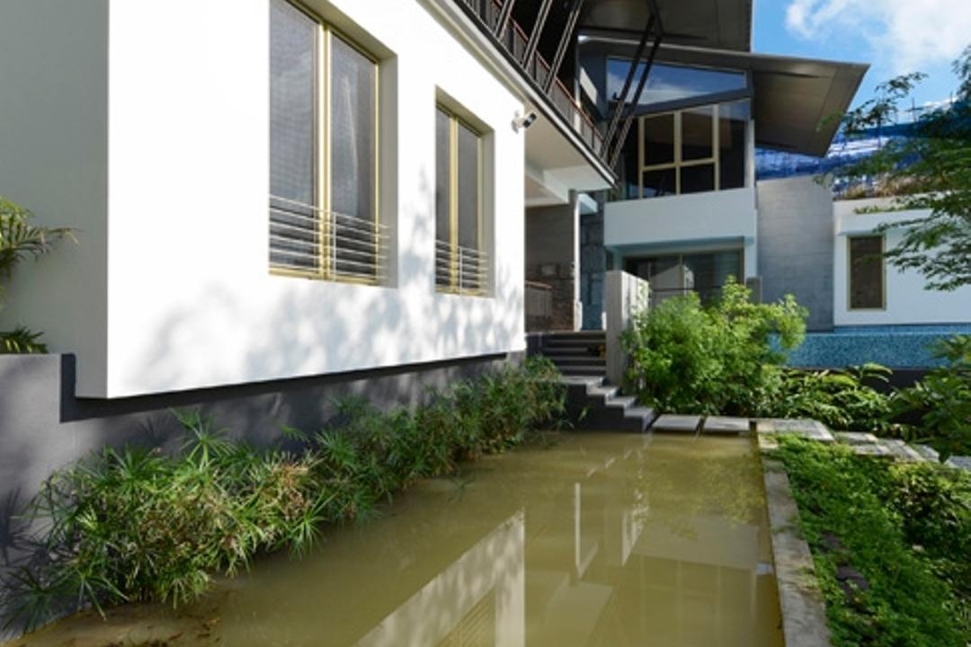 Olive Road, Timur Designs, Contemporary, Landed, Flood, Nature, Fence, Flora, Hedge, Plant, Terrace