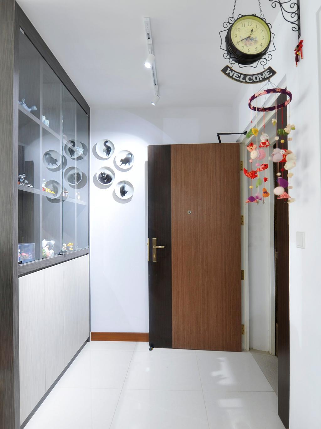 Minimalistic, HDB, Living Room, Punggol Field (Block 662D), Interior Designer, Omni Design, Contemporary