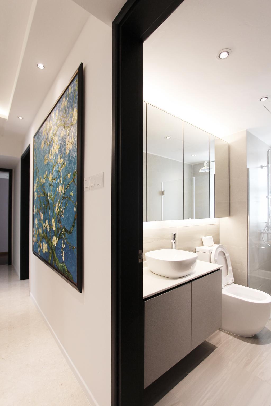 Modern, Condo, Bathroom, Flora Drive, Architect, Dreammetal, Indoors, Interior Design, Room