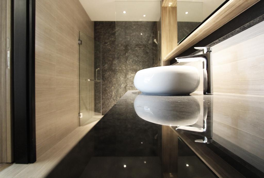 Contemporary, HDB, Interlace, Architect, Dreammetal, Light Fixture, Bathroom, Indoors, Interior Design, Room