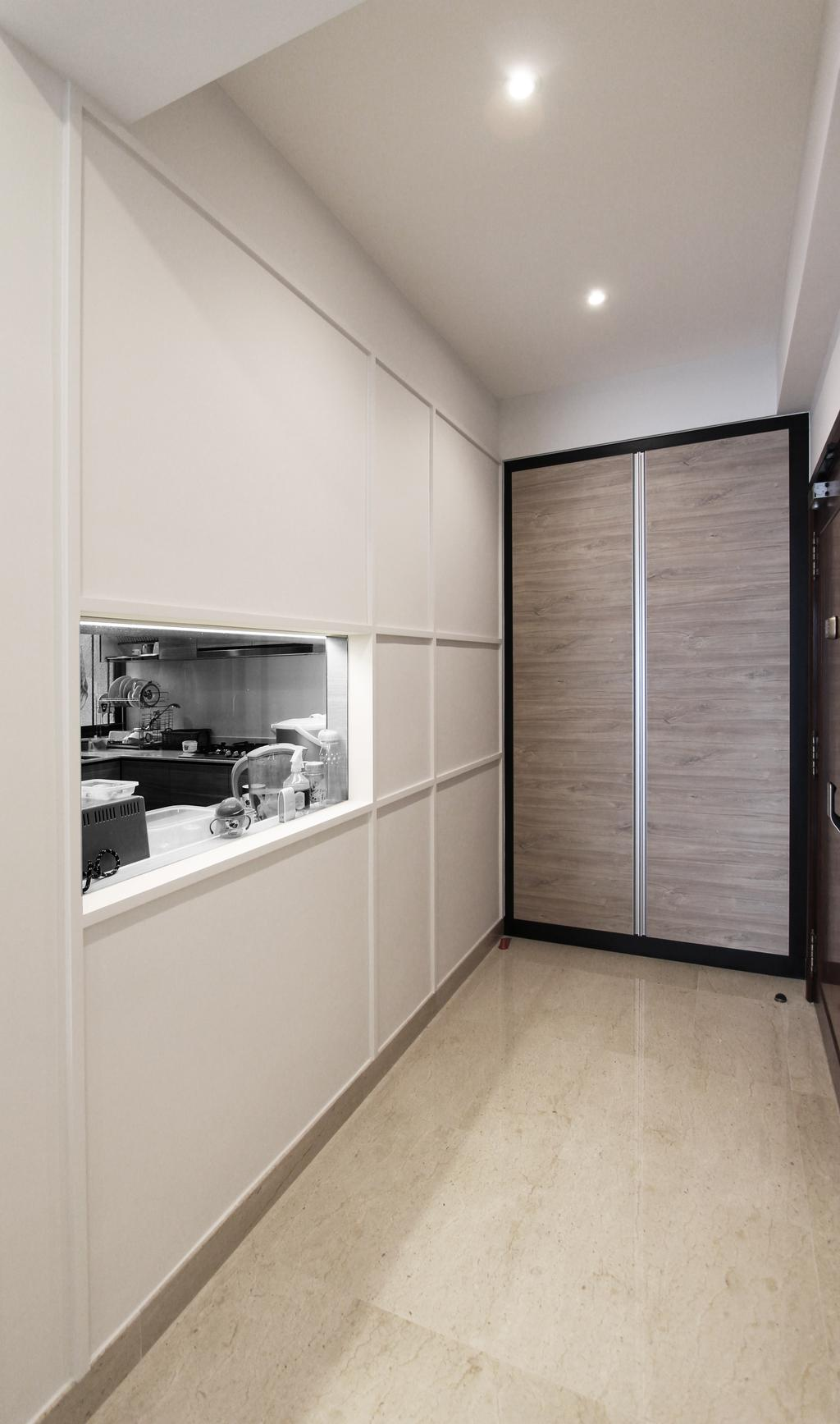 Modern, Condo, Living Room, Hillside, Architect, Dreammetal, Soft Colours, Shoe Storage, Cabinet, Beige, Neutral Colours, Nude, Door, Sliding Door