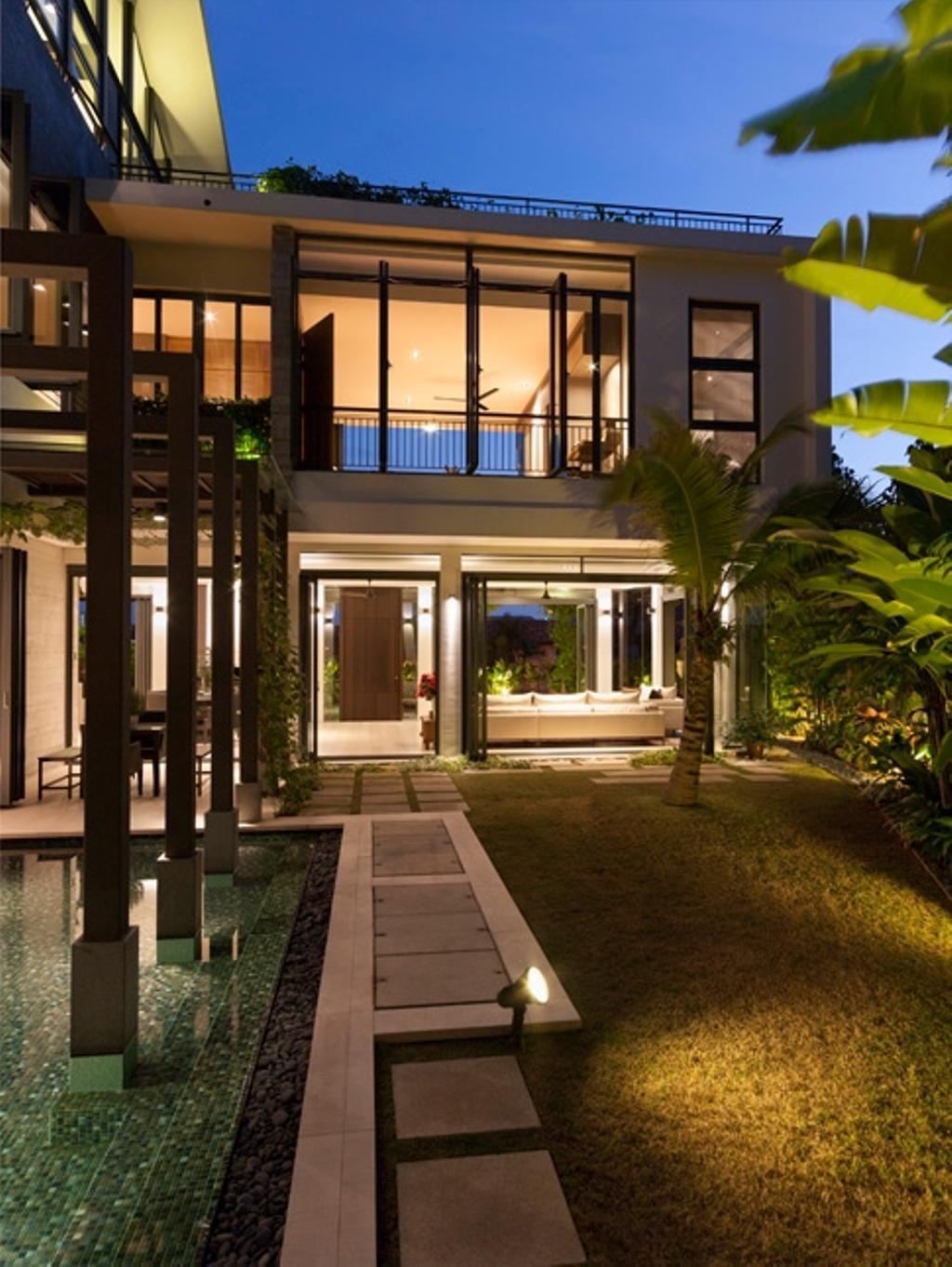Modern, Landed, Garden, Siglap Avenue, Architect, Timur Designs, Window, Path, Appliance, Electrical Device, Oven, Walkway, Building, House, Housing, Villa