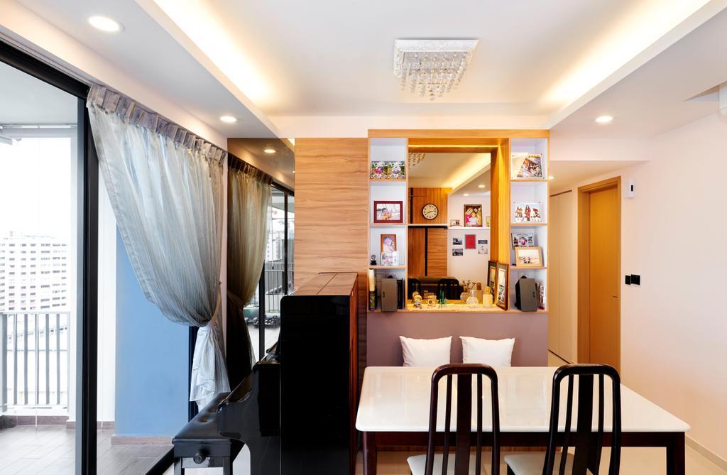 HDB, Sembawang Crescent, Interior Designer, Weiken.com, Chair, Furniture, Dining Room, Indoors, Interior Design, Room