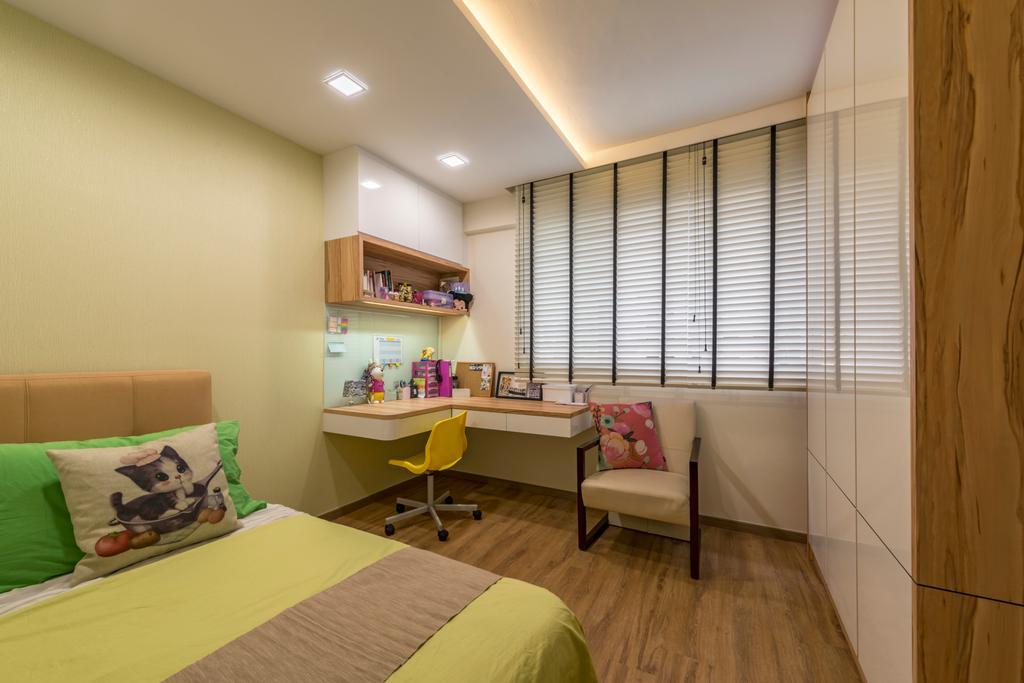 Scandinavian, HDB, Bedroom, Toa Payoh Lorong 8 (Block 215), Interior Designer, VNA Design, Eclectic, Indoors, Room, Chair, Furniture, Interior Design