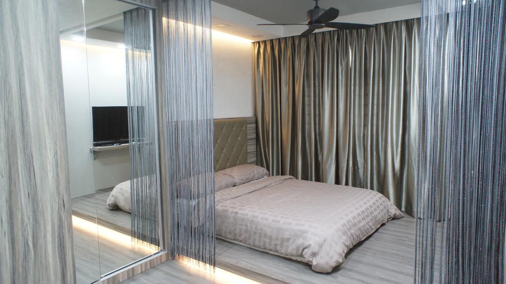 Contemporary, HDB, Bedroom, Choa Chu Kang Avenue 7 (Block 815B), Interior Designer, INCLOVER DESIGN, Bed, Furniture, Couch