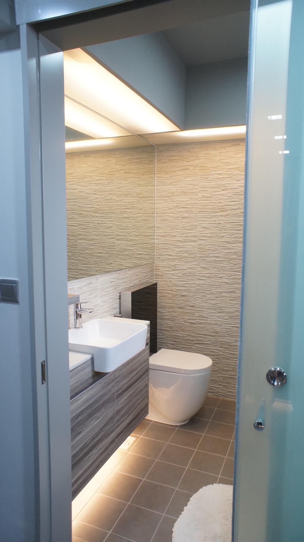 Contemporary, HDB, Bathroom, Choa Chu Kang Avenue 7 (Block 815B), Interior Designer, INCLOVER DESIGN, Indoors, Interior Design, Room, Sink