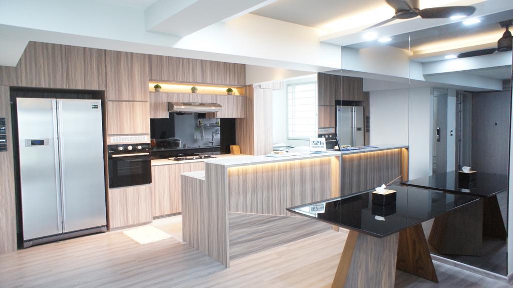 Contemporary, HDB, Kitchen, Choa Chu Kang Avenue 7 (Block 815B), Interior Designer, INCLOVER DESIGN, Appliance, Electrical Device, Oven, Indoors, Interior Design, Room