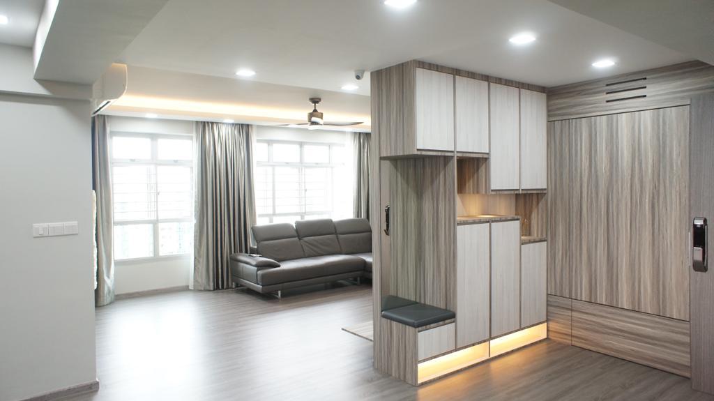 Contemporary, HDB, Living Room, Choa Chu Kang Avenue 7 (Block 815B), Interior Designer, INCLOVER DESIGN