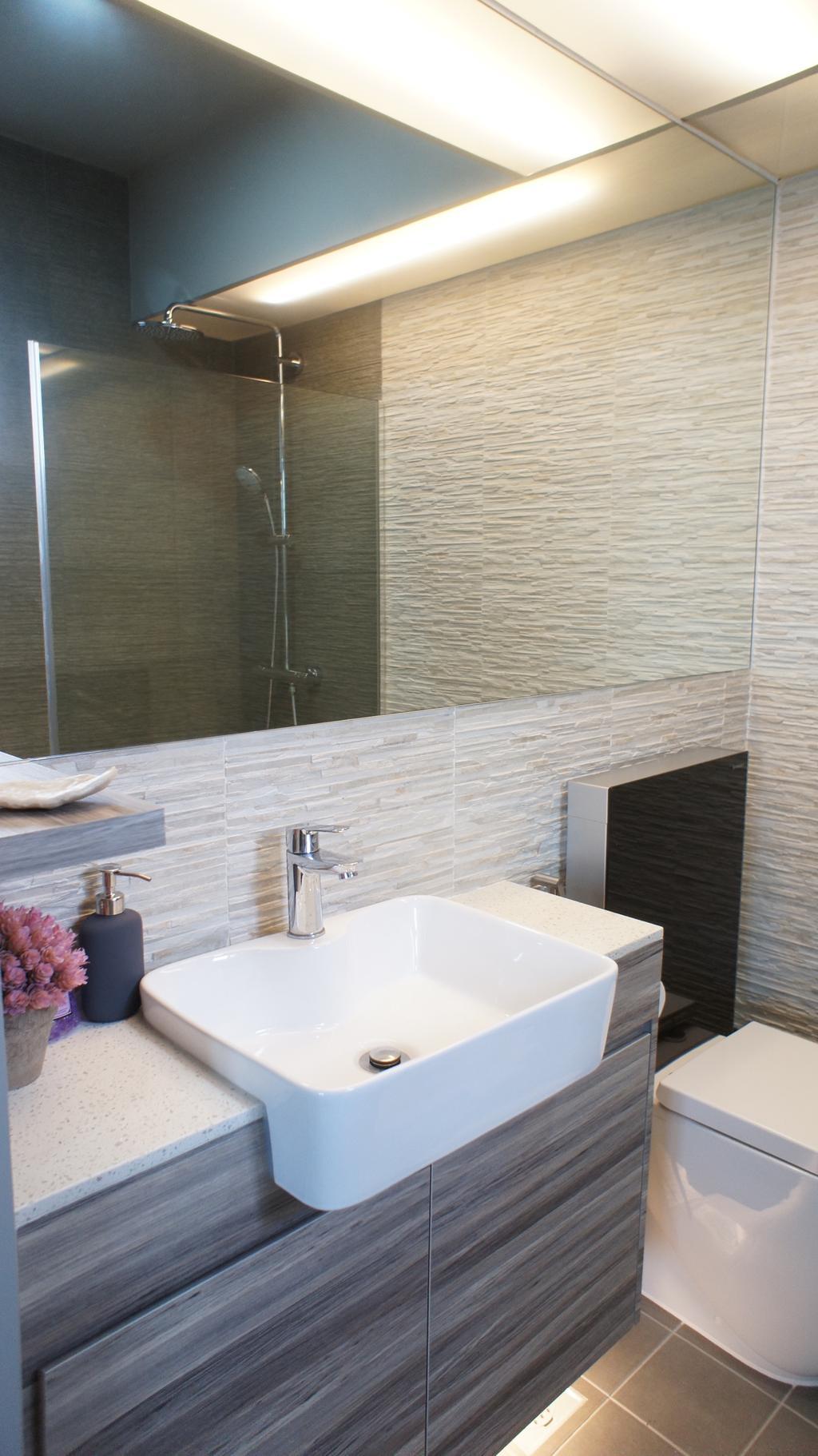 Contemporary, HDB, Bathroom, Choa Chu Kang Avenue 7 (Block 815B), Interior Designer, INCLOVER DESIGN, Indoors, Interior Design, Room