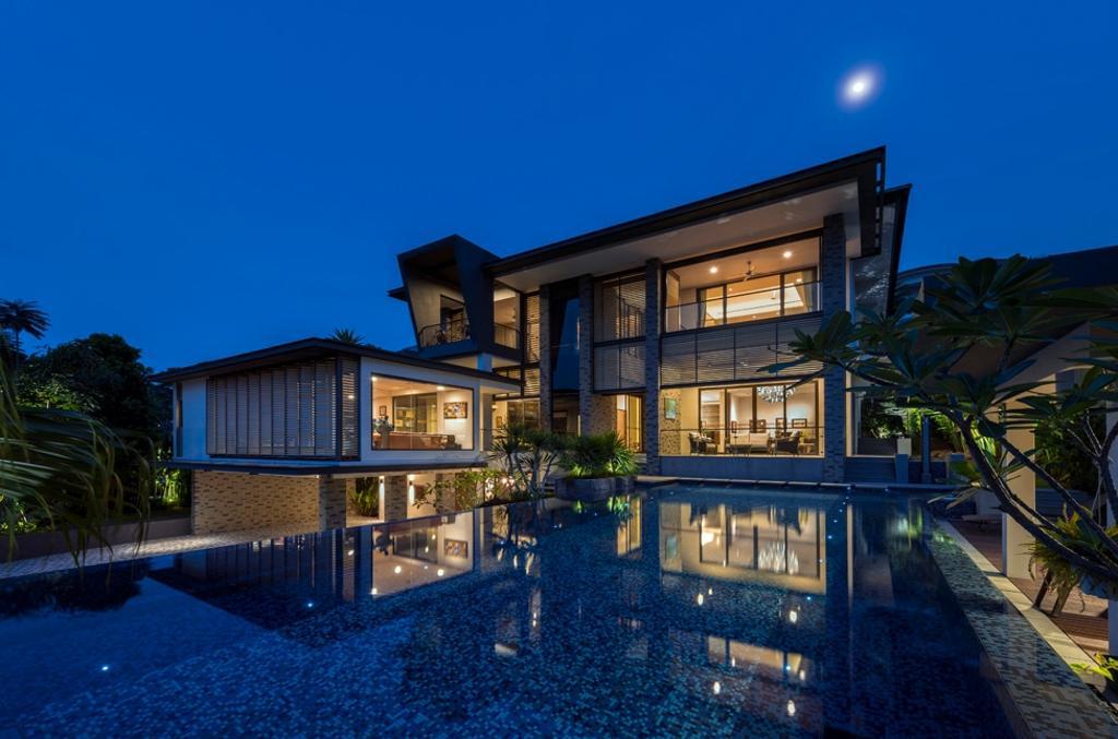 Modern, Landed, Swettenham Rd, Architect, Timur Designs, Building, Cottage, House, Housing, Pool, Water, Mansion, Villa