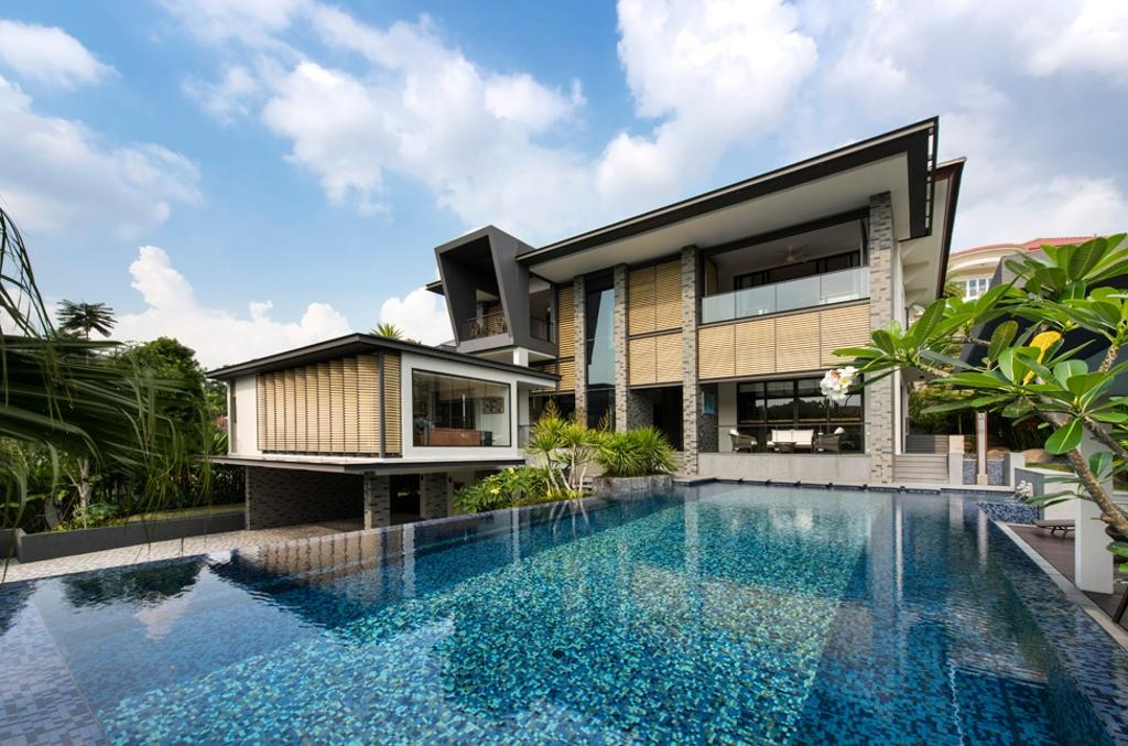 Modern, Landed, Swettenham Rd, Architect, Timur Designs, Building, House, Housing, Villa, Pool, Water, Flora, Jar, Plant, Potted Plant, Pottery, Vase