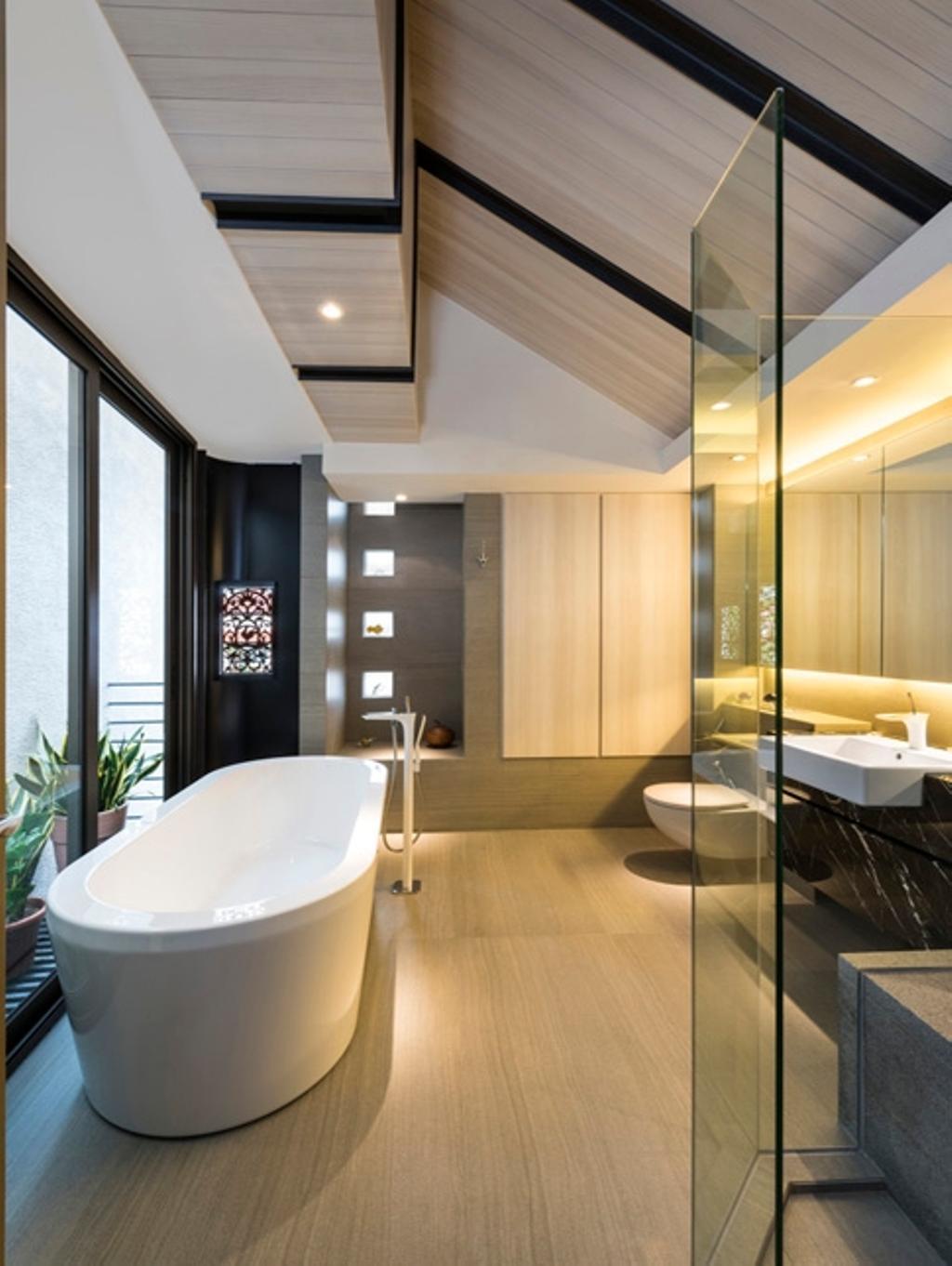 Contemporary, Landed, Bathroom, Thomson View, Architect, Timur Designs, Sink, Indoors, Interior Design, Room, Flora, Jar, Plant, Potted Plant, Pottery, Vase