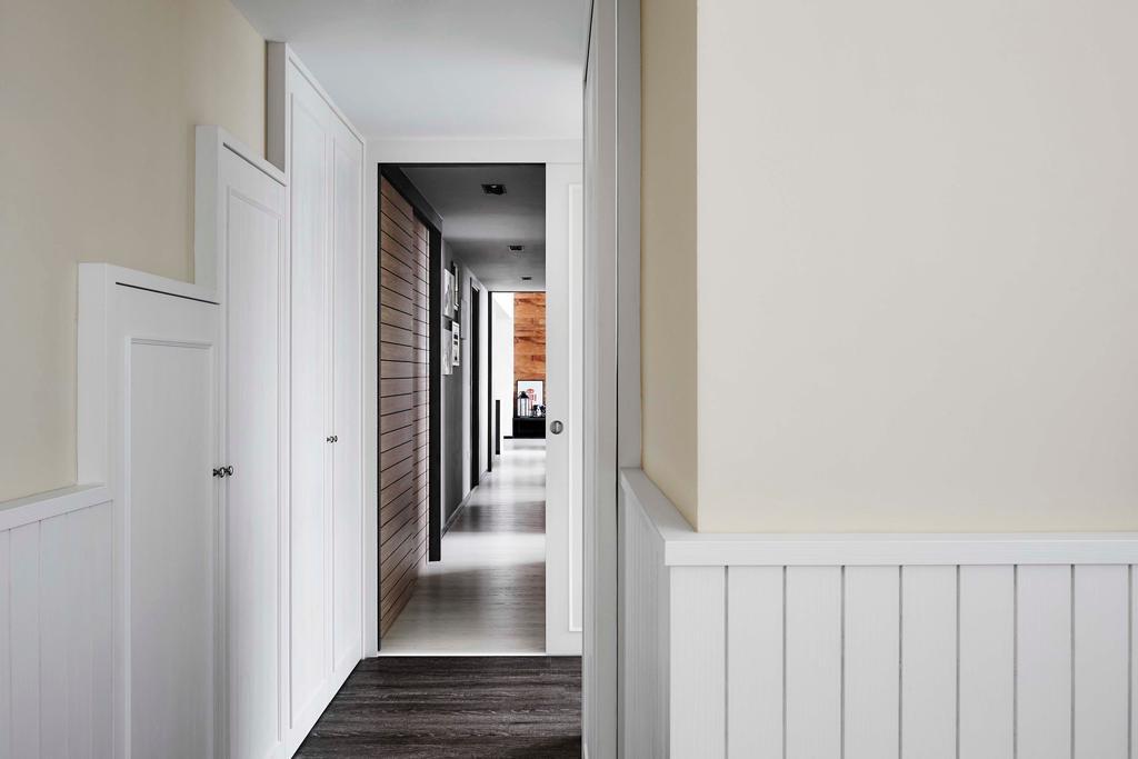 Contemporary, Condo, Waterbay, Interior Designer, Notion of W, Hallway, Corridor, Door, Sliding Door