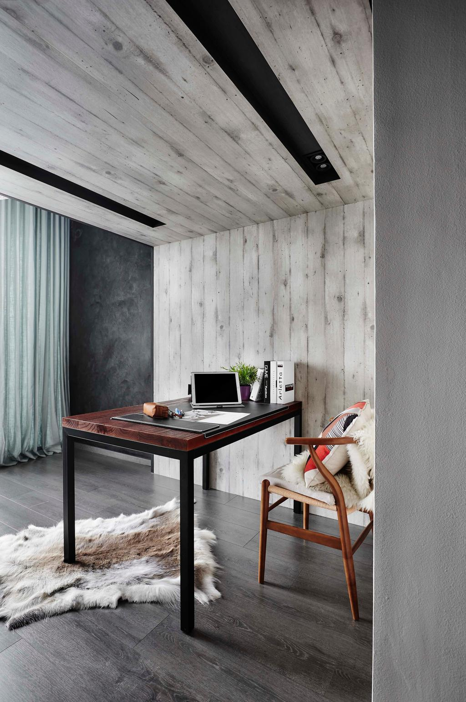 Contemporary, Condo, Study, Waterbay, Interior Designer, Notion of W, Chair, Furniture