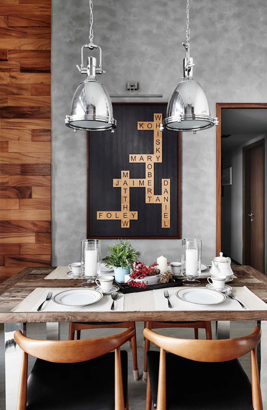 Contemporary, Condo, Dining Room, Waterbay, Interior Designer, Notion of W, Bathroom, Indoors, Interior Design, Room, Flora, Jar, Plant, Potted Plant, Pottery, Vase