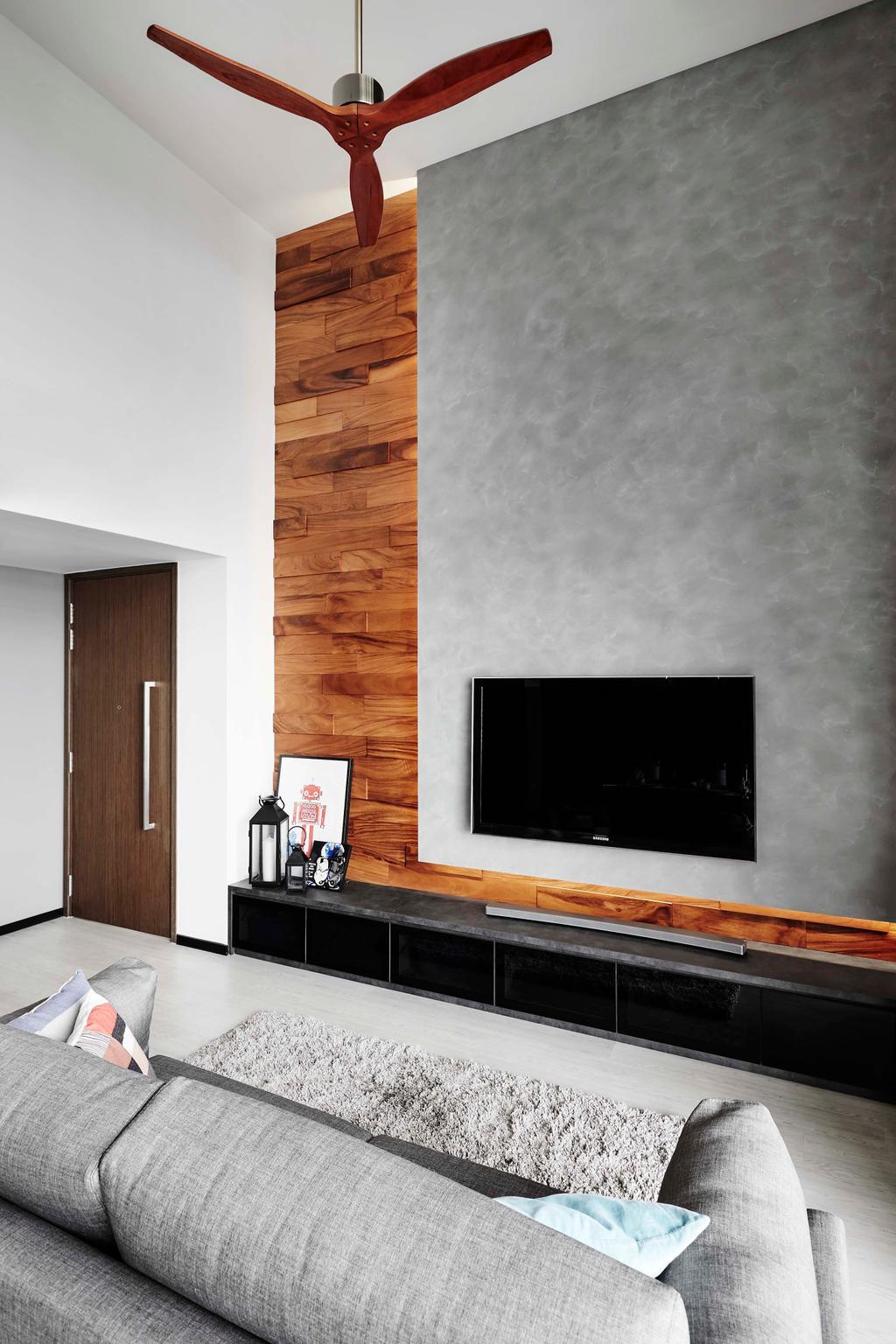Contemporary, Condo, Living Room, Waterbay, Interior Designer, Notion of W, Fireplace, Hearth