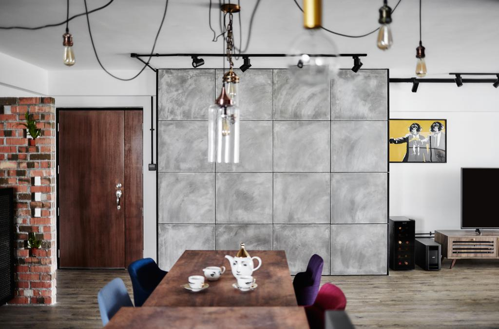 Eclectic, HDB, Dining Room, Woodlands, Interior Designer, Notion of W