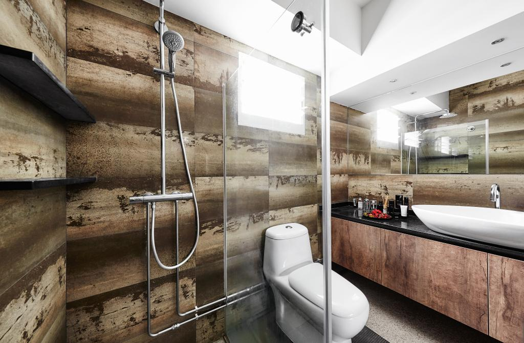 Eclectic, HDB, Bathroom, Woodlands, Interior Designer, Notion of W, Mold, Toilet, Indoors, Interior Design