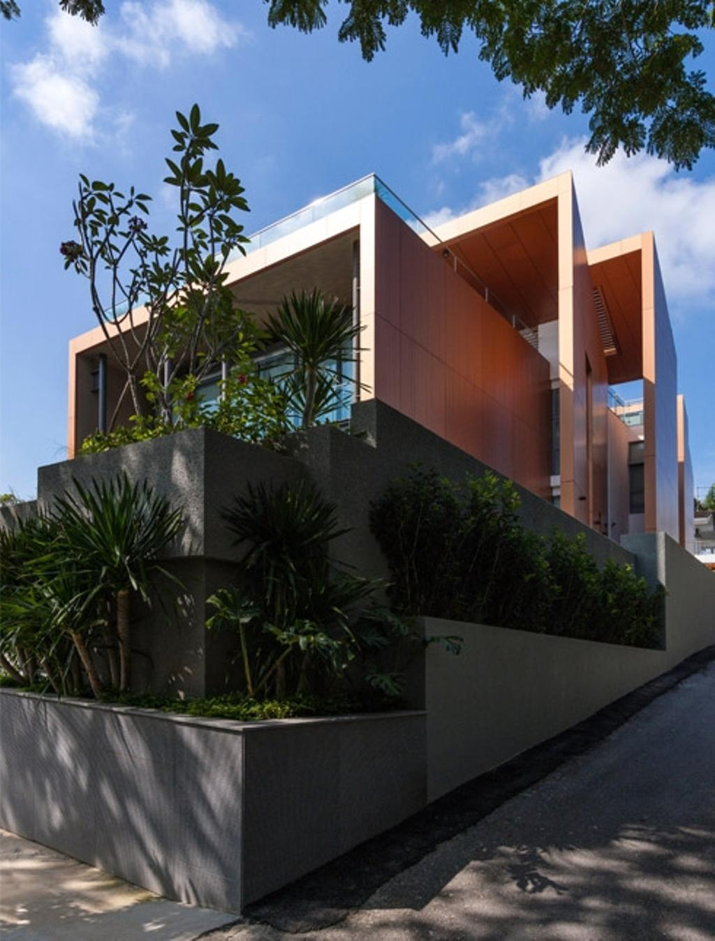 Modern, Landed, Trevose, Architect, Timur Designs, Flora, Jar, Plant, Potted Plant, Pottery, Vase, Building, House, Housing, Villa, Arecaceae, Palm Tree, Tree