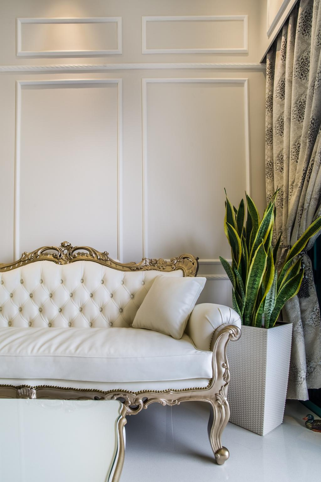 Vintage, Condo, Living Room, The Quinn, Interior Designer, Urban Habitat Design, Flora, Jar, Plant, Potted Plant, Pottery, Vase