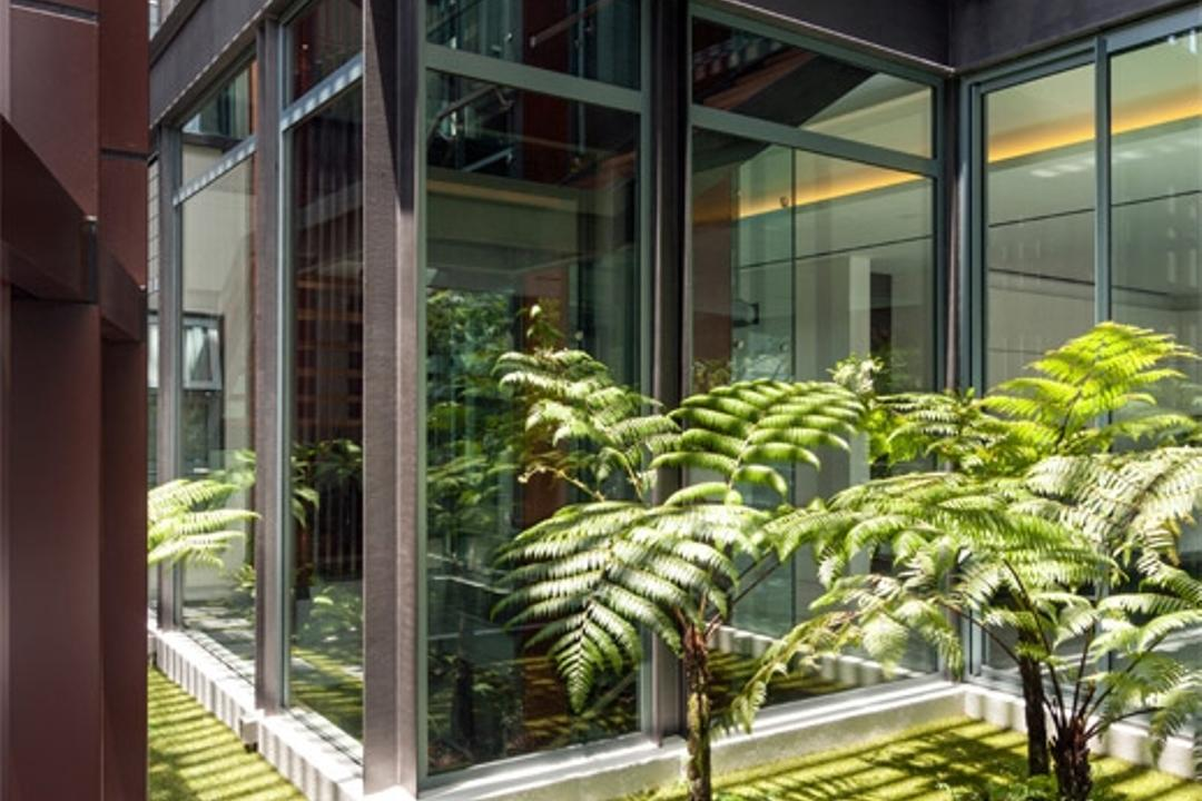 Trevose, Timur Designs, Modern, Landed, Porch, Arecaceae, Flora, Palm Tree, Plant, Tree, Fern
