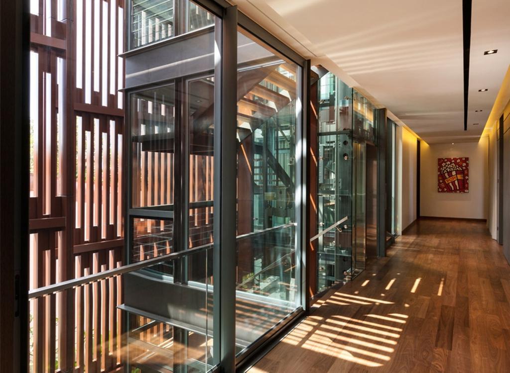 Modern, Landed, Trevose, Architect, Timur Designs, Door, Folding Door, Corridor, Flooring
