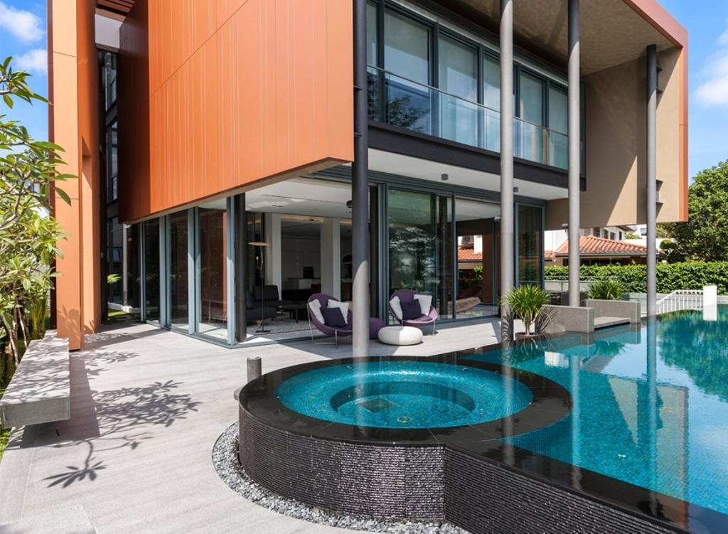 Modern, Landed, Trevose, Architect, Timur Designs, Pool, Water, Balcony, Building, House, Housing, Villa