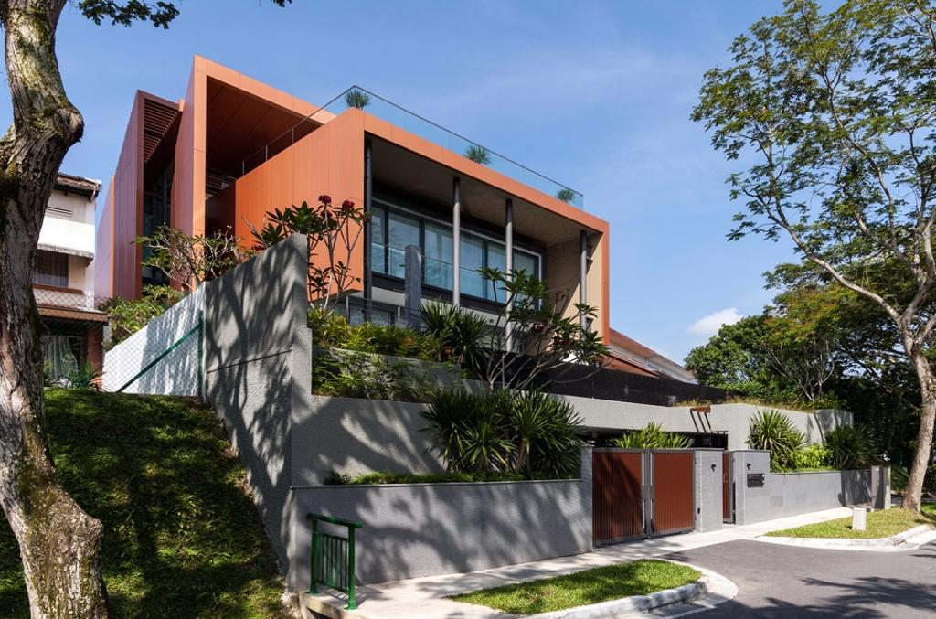 Modern, Landed, Trevose, Architect, Timur Designs, Flora, Jar, Plant, Potted Plant, Pottery, Vase, Building, House, Housing, Villa