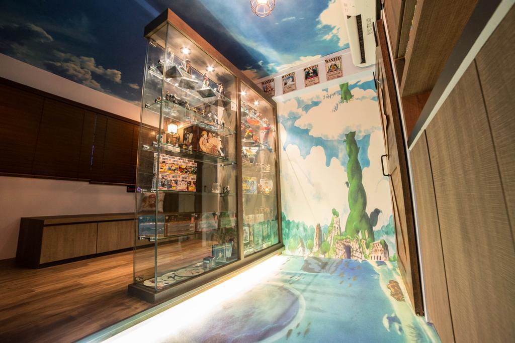 Eclectic, HDB, Bedroom, Marine Drive (Block 61), Interior Designer, MET Interior, Corridor, Art, Painting
