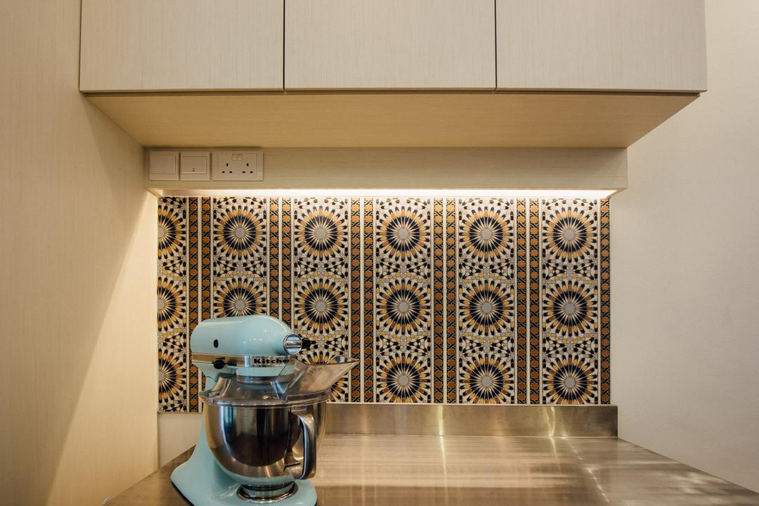 Cakes & French Pastry (Tanjong Katong), Fatema Design Studio, Eclectic, Commercial, Coffee Machine, Wall Tiles, Cabinets, Mixer