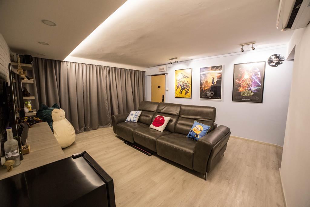 Eclectic, HDB, Marine Drive (Block 61), Interior Designer, MET Interior, Couch, Furniture, Art, Art Gallery, Building, Housing, Indoors