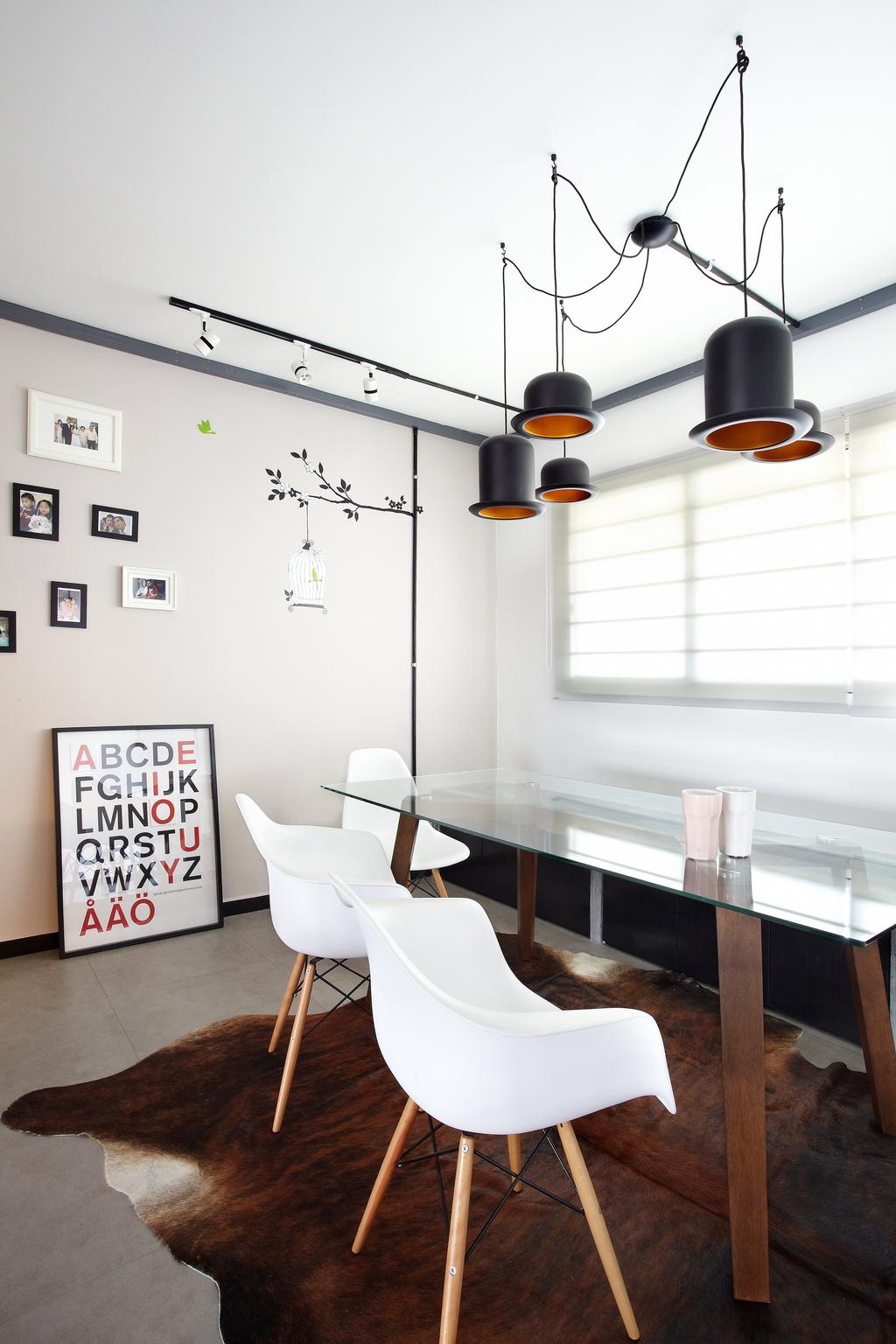 Industrial, HDB, Dining Room, Jalan Rajah, Interior Designer, Free Space Intent, Chair, Furniture, Dining Table, Table, Indoors, Interior Design, Room