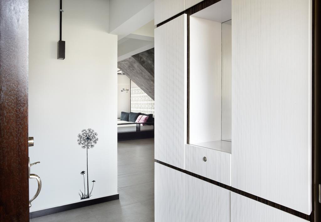 Industrial, HDB, Bedroom, Jalan Rajah, Interior Designer, Free Space Intent, Door, Sliding Door