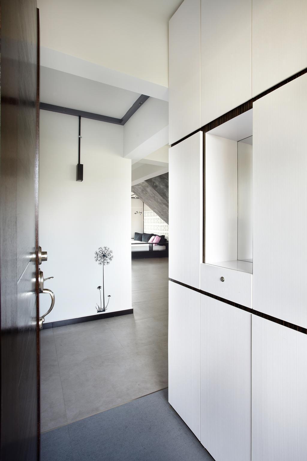 Industrial, HDB, Bedroom, Jalan Rajah, Interior Designer, Free Space Intent