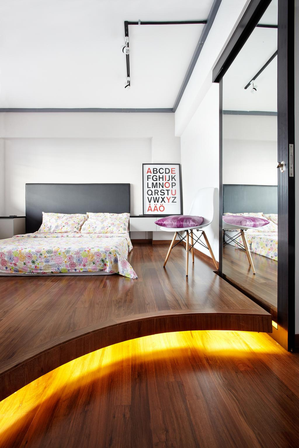 Industrial, HDB, Bedroom, Jalan Rajah, Interior Designer, Free Space Intent, Chair, Furniture