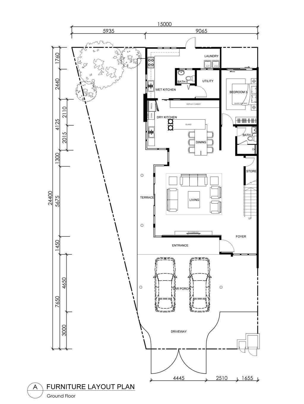 Modern, Landed, CC Lake Fields Residence, Interior Designer, Turn Design Interior, Floor Plan, Diagram, Plan