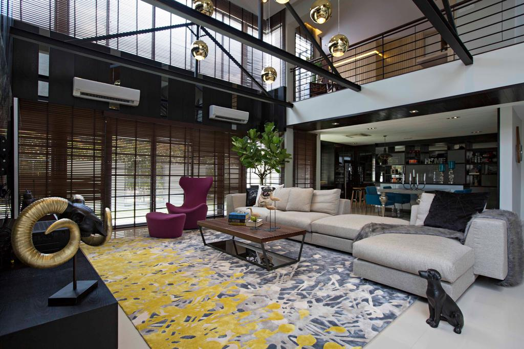 Modern, Landed, Living Room, CC Lake Fields Residence, Interior Designer, Turn Design Interior, Apartment, Building, Housing, Indoors, Loft, Room