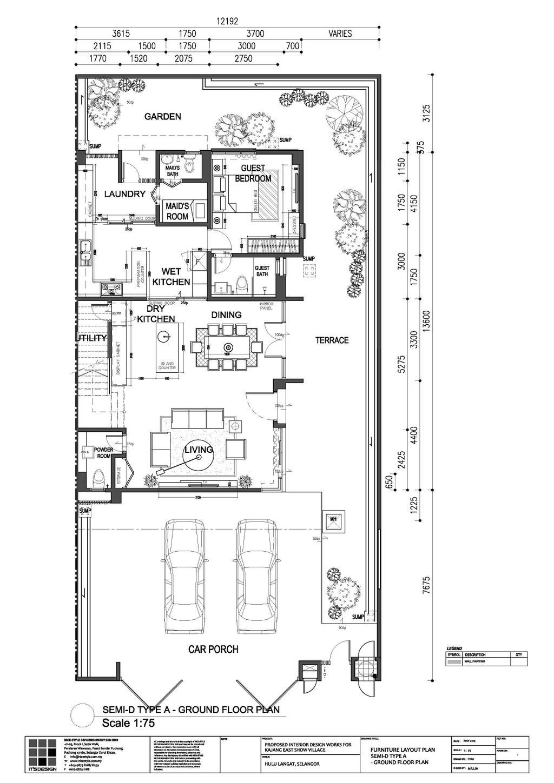 Contemporary, Landed, MKH Kajang East, Interior Designer, Nice Style Refurbishment, Floor Plan, Diagram, Plan