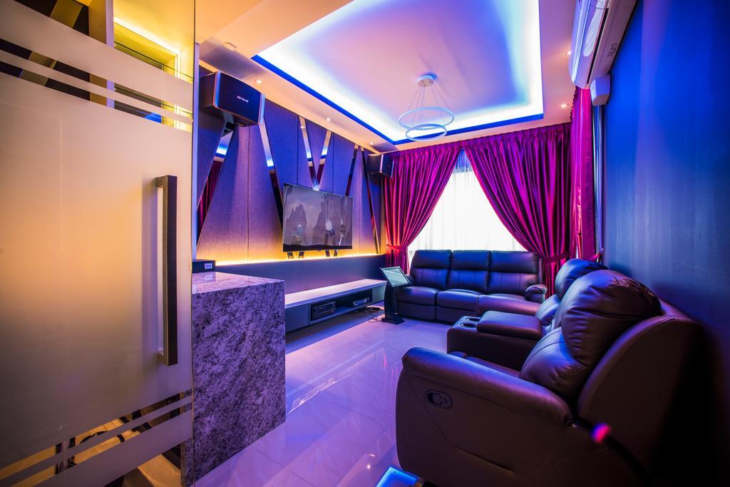 Landed, Sunway Montana, Interior Designer, IQI Concept Interior Design & Renovation, Indoors, Room, Couch, Furniture, Lighting