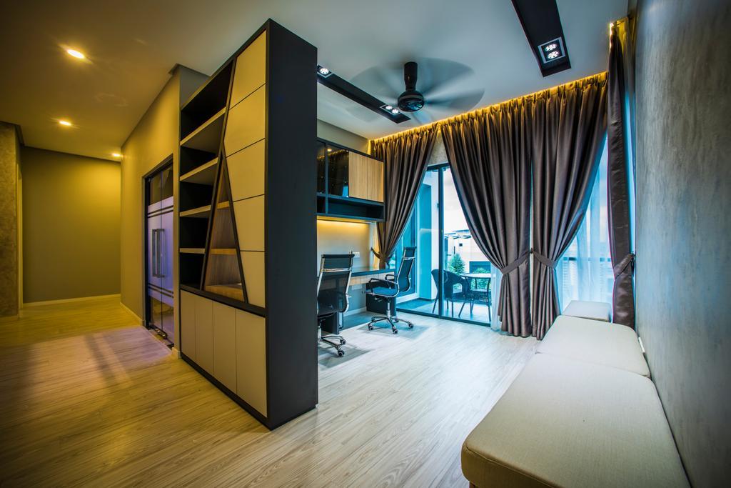 Landed, Study, Sunway Montana, Interior Designer, IQI Concept Interior Design & Renovation, Corridor, Flooring, Indoors, Interior Design
