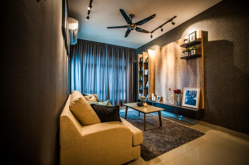 Condo, Living Room, Pearl Suria, Interior Designer, IQI Concept Interior Design & Renovation, Couch, Furniture, Indoors, Interior Design