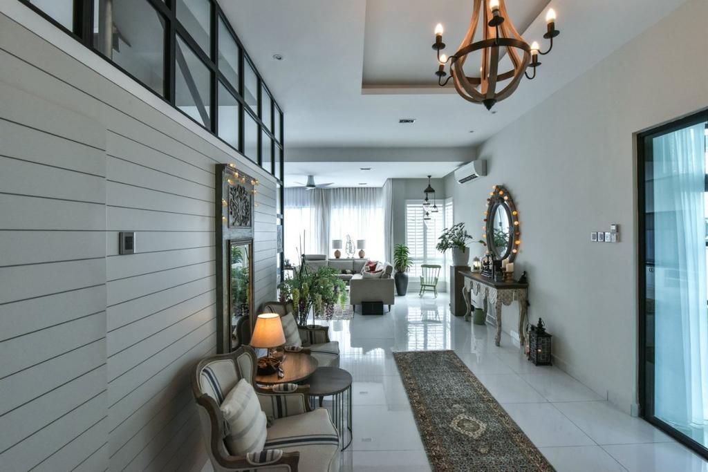 Modern, Landed, Living Room, 16 Sierra, Akira, Interior Designer, M innovative Builders, Light Fixture, Couch, Furniture, Indoors, Interior Design, Chair, Dining Room, Room, Balcony