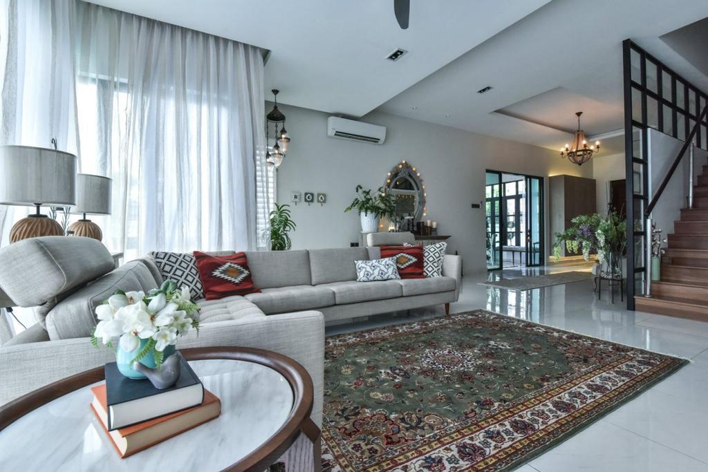 Modern, Landed, 16 Sierra, Akira, Interior Designer, M innovative Builders, Flora, Jar, Plant, Potted Plant, Pottery, Vase, Couch, Furniture, Indoors, Room